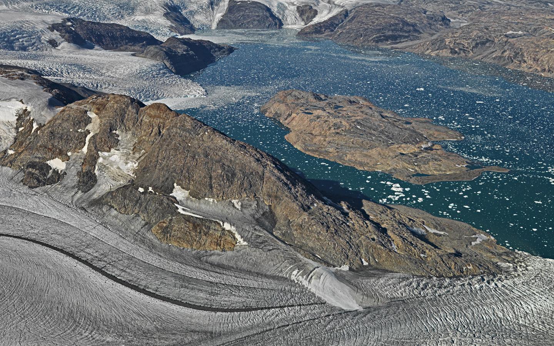 om Gletscher zum Meer